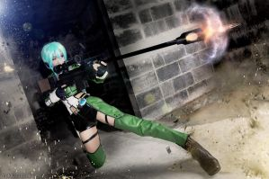 Sword art online 2 Sinon Cosplay Shooting 2 by yukigodbless