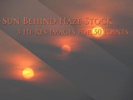 Sun Behind Haze Stock by tntrekabulator
