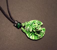 Lilypad Prince pendant by Meadowknight
