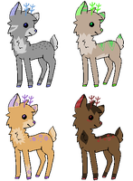 Deer Adopts 4 - CLOSED by beckyadopts