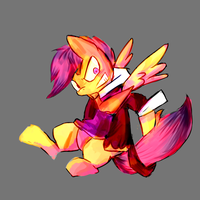 Random scootaloo doodle by Spanish-Scoot