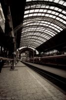 Frankfurt am Main Trainstation by despiseit