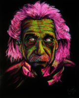 Zombie Albert Einstein by VanZanto