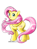 Fluttershy Fanart II (digital color) by BOAStudio