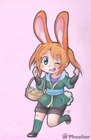 Here Comes the Easter Bunnichi! by Phoelion
