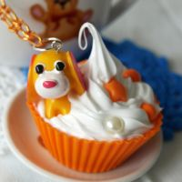 Ocha Ken cupcake Necklace by AndyGlamasaurus
