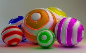 Colorful glowing Balls by Dracu-Teufel666
