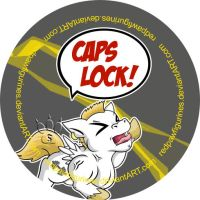 CAPSLOCK Roid Rage Badge by RedPawDesigns