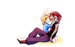 flame prince and fionna by Torchh