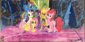The Mane 6 and Spike Ceiling Tile by 70Jack90