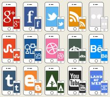 FREE iPhone social icons by NatalyBirch