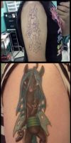 chrysalis tattoo detail + outline by illalwaysbe