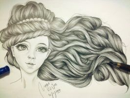 Long curly hair by MQWee