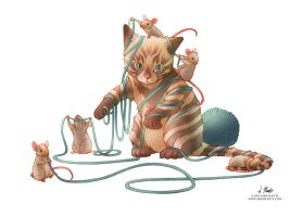 Cat and Mouse by SaraPlante