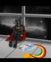 Rainbow in space by Enshi-D