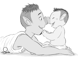 liam and baby 071214 by VinDeamer