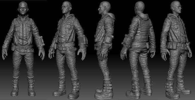 The Outsider Sculpt by GavinGoulden