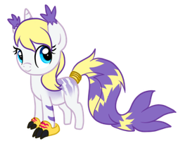 Gatomon Pony Chibi -Com- by x-Short-Hilt-x