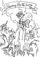 Daring Do and the Sunny Town by YKChiropter