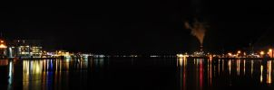 Night Panorama view Kiel Fjord by Bull04
