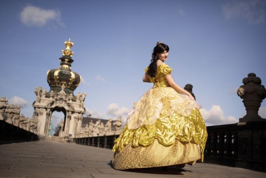 Belle Golden Ballgown by Shira-Cosplay