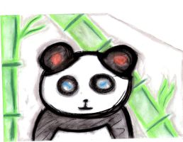 Panda and bamboo by autumn2010