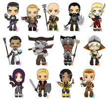 Chibi Set: Dragon Age Inquisition by zoro4me3