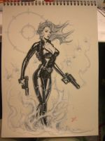 Black Widow con sketch by MichaelDooney