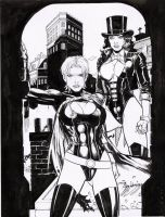 power girl dark x zatanna by amorimcomicart