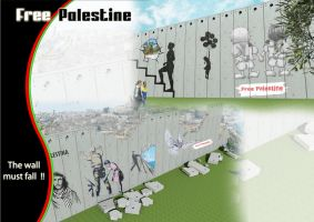 Free Palestine - no walls by Abdelmajeed