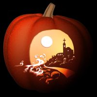 Ruined Mission Digital Pumpkin by MasterpieceLost