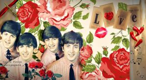 The Beatles-in-love-by-Carla Fuchs-wallpaper by CarlaBabi
