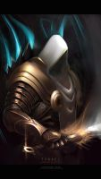 daily painting :tyrael by TheFearMaster