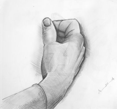 Drawing of a Hand by shehzadm