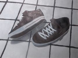 Painting - Shoes by ReaperMonkey