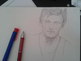 Daryl Dixon WIP by hasel-and-patty