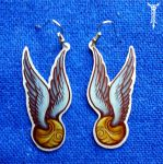 Golden Snitch Earrings by TrollGirl