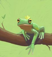 Tree Frog Study by TLCook