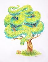 Tree dragon by mossy-tree
