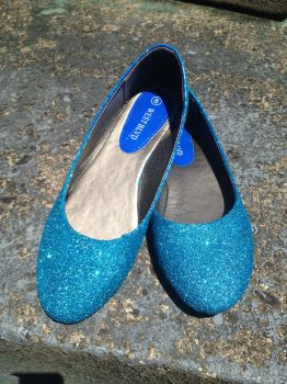 DIY Glitter Flats Close Up by Voldenae
