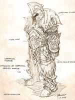 1 hour design doodle: Strength of Gorehowl by YanmoZhang