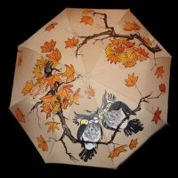 the umbrella owl by marew