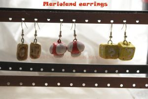 Marioland earrings by SongThread
