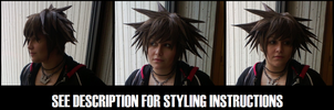 Cosplay Wigs: Sora Wig Tutorial by cosplay--tutorials