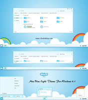 Mac Blue Light Theme Windows 8.1 by cu88