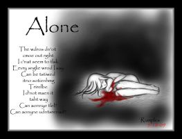 Alone - with poem by RumpleInk