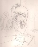 Angel Girl sketch by Quietstorm21