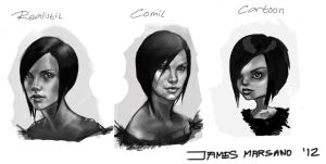 charlize theron heads by JamesMarsano