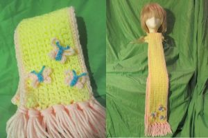 Fluttershy MLP Inspired Scarf by Ringo-Chu