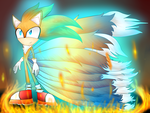 The Messed-up series: Sonic in Hero form by KikiLorin764